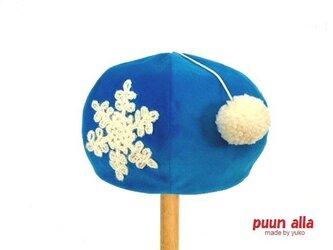 キッズのためのponponベレー帽の画像