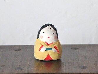 ミニお多福さん(黄)の画像