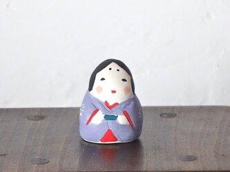 ミニお多福さん(紫)の画像