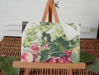 桃と葡萄 / postcard 2枚組の画像