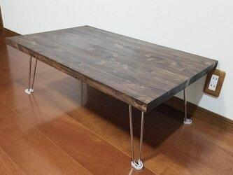 男前アンティーク調 国産桧の折りたたみテーブル 800㎜×500㎜の画像