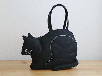『 ko-bako / black 』 香箱座りの猫鞄の画像