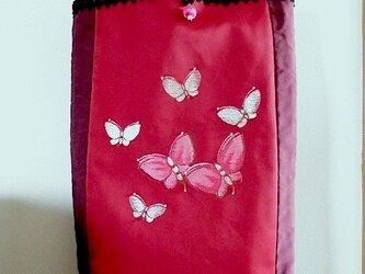 蝶々柄名古屋帯・和楽器収納トートバッグ・S様特注品の画像