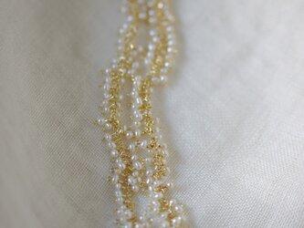 極小パールのショートネックレス【ecume series -blanc-】の画像