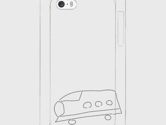 iPhone5/5s/SEスマホケース 『しんかんせん』の画像