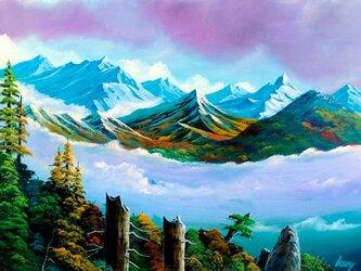 南アルプスの雲海の画像