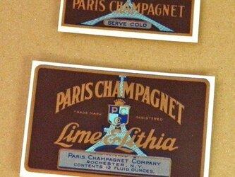 2枚/ エッフェル塔 Vintage ソーダラベル Vol. 14  DA-LA014の画像
