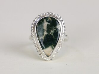 天然モスアゲート*指輪* 9号の画像