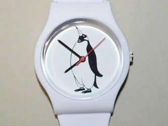 オリジナル ペンギン腕時計 白、ペンギンケース付の画像