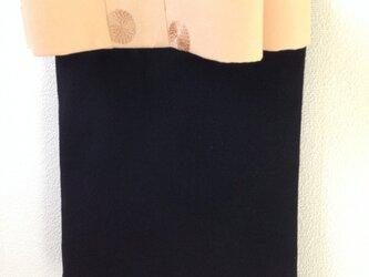 大人のリボンバッグ   黒×ベージュリボンの画像