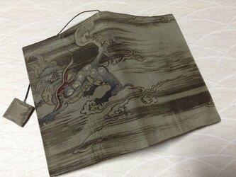 713      羽裏       獅子       文庫サイズブックカバーの画像