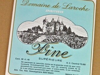 1枚/ Vintage ラベル Vol. 8(Domaine de Laroche / Blue)DA-LA008の画像