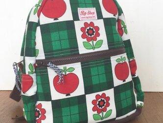 ヴィンテージ生地キッズリュック(Apple Flower)の画像