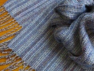 手織のストール blue salviaの画像