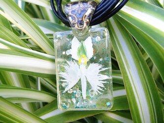 鷺草のウォータードームネックレスの画像