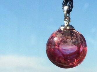 【受注生産】網模様ガラスのシルク紐ネックレスの画像