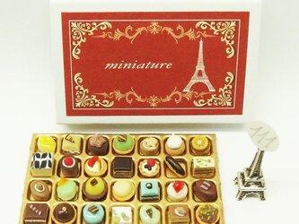 マッチ箱の中のミニチュア フランスのお菓子111の画像