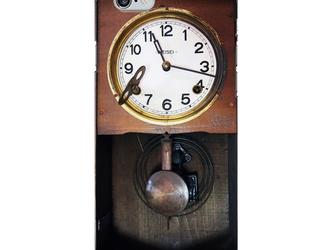 昭和レトロなアンティーク柱時計スマホケース/ iPhone5/5s/SE iPhone6/6sの画像