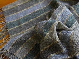 手織のストール avocado -2の画像