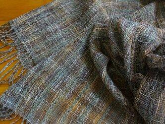手織のストール autumn colorsの画像