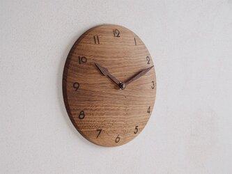 掛け時計 丸 楢(ナラ)材24の画像