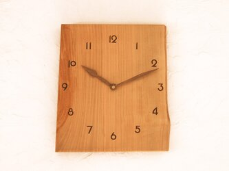 掛け時計 桜材8の画像