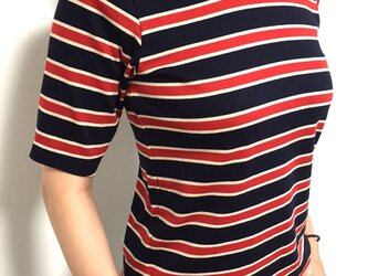 【サイズ展開有】 形にこだわった大人の4分袖レトロTシャツの画像