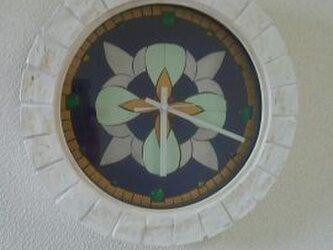 タイルとガラスのコラボ時計!の画像
