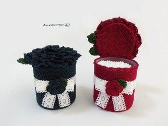 薔薇の綿棒ケースの画像