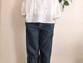 イタリー製リネン ブラウスの画像