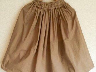 ベーシックギャザースカート【ベージュ】(大人フリーサイズ)の画像