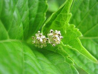 小紫陽花のK18ピアスセット(短)の画像