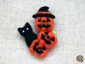ハロウィンのおばけブローチ2の画像