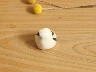 《受注制作》シマエナガ (マット)国産ヒノキの木箱入りの画像