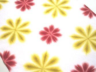 華やかカラー#1*雪花絞りの手ぬぐいの画像