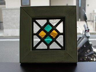 アンティーク風ステンドグラスパネル6の画像