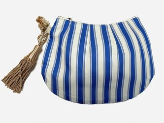 Shell pouch -stripe-の画像