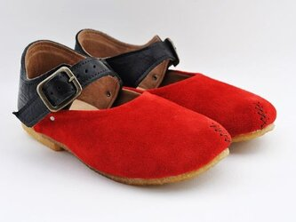 #Tokuyama Shoes:『plie buckle-shoes』red x blackの画像