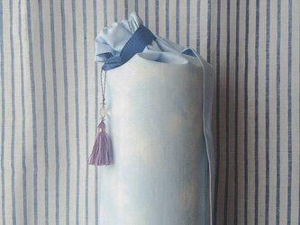 ダイダイ柄ヨガマットケース ライトブルー Mサイズの画像