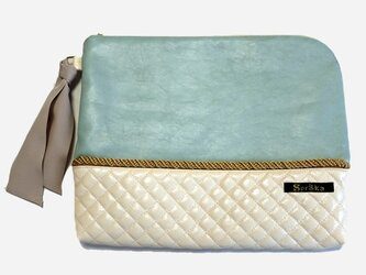 Mint×quilt clutch bagの画像