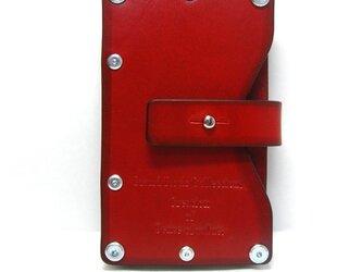 Card case-002-名刺入れ レッドの画像