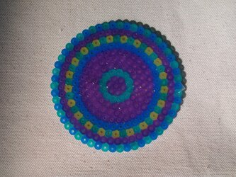 コースター(ブルーフラワー紫)の画像