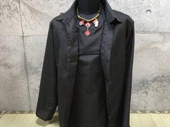着物リメイク 黒のアンサンブルの画像