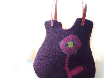 トートバッグ オールドローズ *紫紺*の画像
