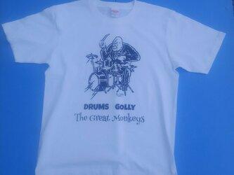 ゴリラの ドラマー Tシャツ 6.2オンス 厚手の 生地の画像