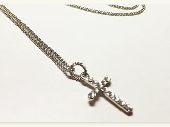 送料無料|スワロフスキー使用|クロス十字架の画像
