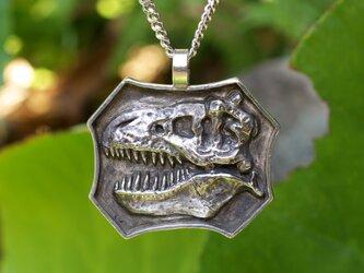 Sv 恐竜シリーズ 『Noー2』 ティラノサウルス頭骨 ペンダントネックレスの画像