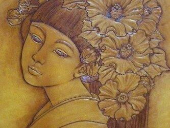 革絵・花かんざし(芙蓉)の画像