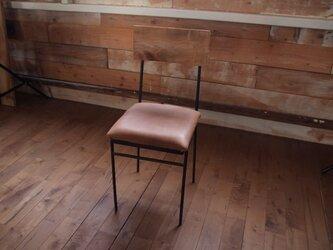 椅子 本革(キャメル)の画像