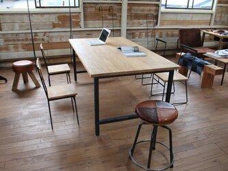 ダイニングテーブル タモ無垢板の画像